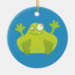 Cute Green Monster Ornament (One Sided)