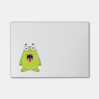 Cute green monster post-it® notes