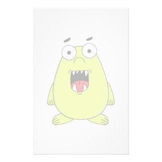 Cute green monster stationery