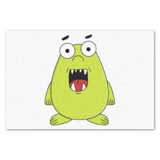Cute green monster tissue paper