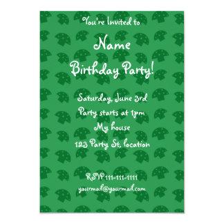 Cute green mushroom pattern 5x7 paper invitation card