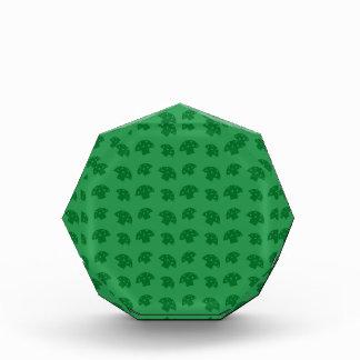 Cute green mushroom pattern award