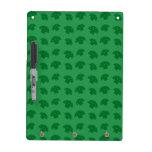 Cute green mushroom pattern dry erase whiteboards