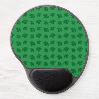 Cute green mushroom pattern gel mouse pad
