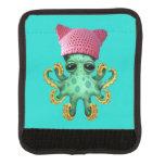 Cute Green Octopus Wearing Pussy Hat Handle Wrap