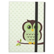 Cute Green Owl Case For iPad Air