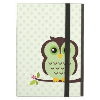 Cute Green Owl Case For iPad Air