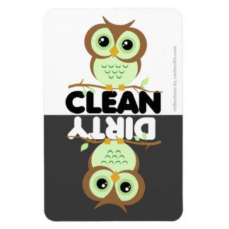 Cute Green Owl Dishwasher Magnet