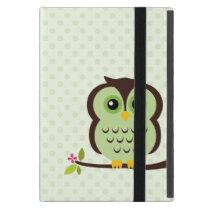 Cute Green Owl iPad Mini Cases