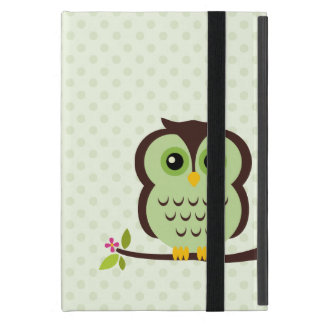 Cute Green Owl iPad Mini Cover