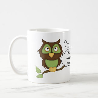 Cute Green Owl-Tea Coffee Mug