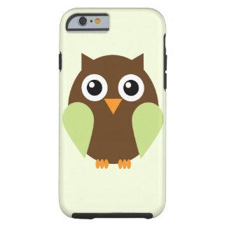Cute Green Owl Tough iPhone 6 Case
