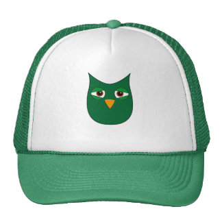 Cute Green Owl Trucker Hat