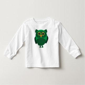 Cute Green Owl Tee Shirt