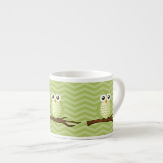 Cute Green Owls 6 Oz Ceramic Espresso Cup