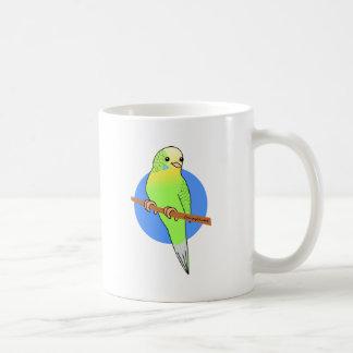 Cute Green Parakeet Coffee Mug