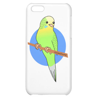 Cute Green Parakeet Case For iPhone 5C