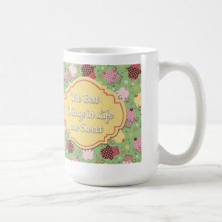 Cute Green Pink Yellow Cupcakes Best Things... Coffee Mug