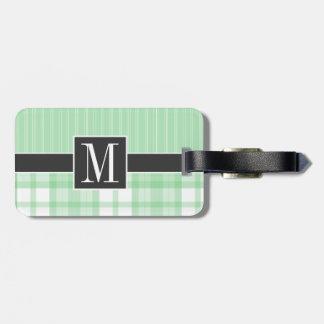Cute Green Plaid Travel Bag Tags