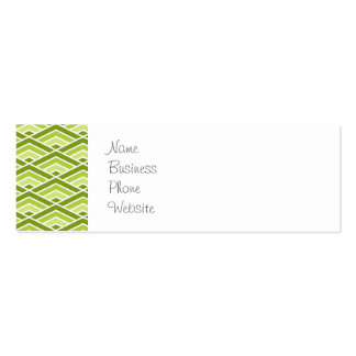 Cute Green Pyramid Pattern with Dots Double-Sided Mini Business Cards (Pack Of 20)