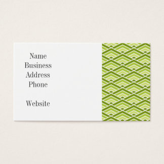 Cute Green Pyramid Pattern with Dots Business Card