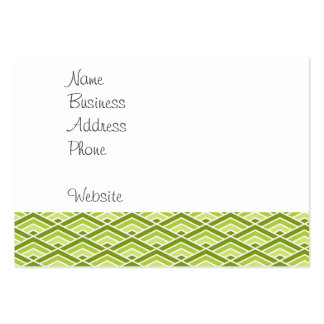 Cute Green Pyramid Pattern with Dots Large Business Cards (Pack Of 100)