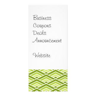 Cute Green Pyramid Pattern with Dots Rack Card