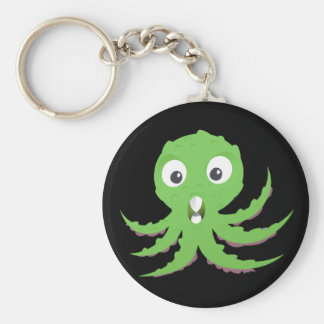 Cute Green Sea Monster Keychains