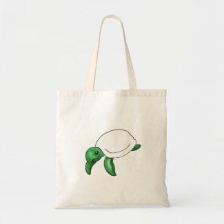 Cute Green Sea Turtle Tote Bag