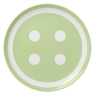 Cute Green Sewing Button Plate