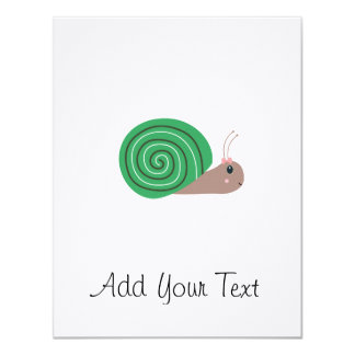 Cute green Snail Card