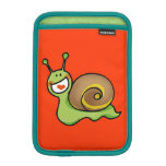 Cute green snail iPad mini sleeve