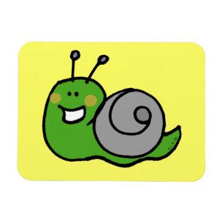 Cute green snail magnets