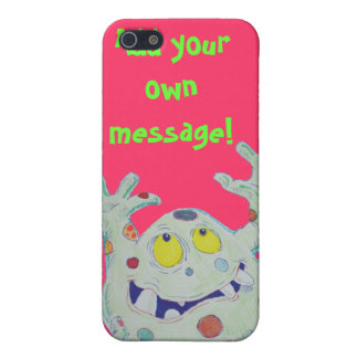 Cute green spotted monster iPhone 5/5S case