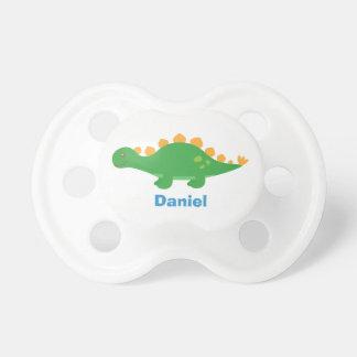 Cute Green Stegosaurus Dinosaur for Babies Pacifier