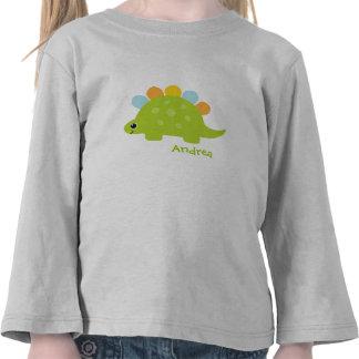 Cute Green Stegosaurus Dinosaur T Shirt
