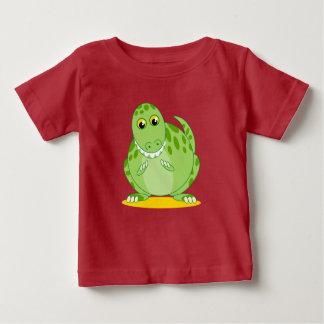 Cute green T-Rex or Tyrannosaurus Rex dinosaur, Baby T-Shirt