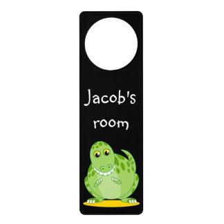 Cute green T-Rex or Tyrannosaurus Rex dinosaur, Door Hanger