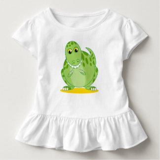 Cute green T-Rex or Tyrannosaurus Rex dinosaur, Toddler T-shirt