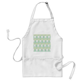 Cute Green Teacup Print Adult Apron