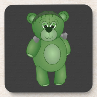 Cute Green Teddy Bear - Frankenbear's Monster Beverage Coaster