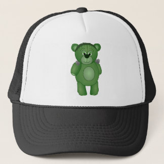 Cute Green Teddy Bear - Frankenbear's Monster Trucker Hat