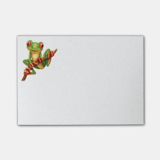 Cute Green Tree Frog on a Branch Post-it Notes