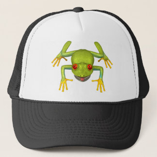 Cute Green Tree Frog Trucker Hat