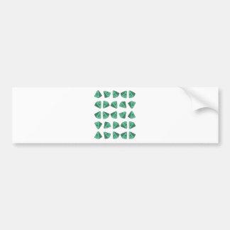 Cute Green Triangle Tile Bumper Sticker