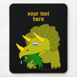 Cute Green Triceratops Cartoon Dinosaur Mouse Pads
