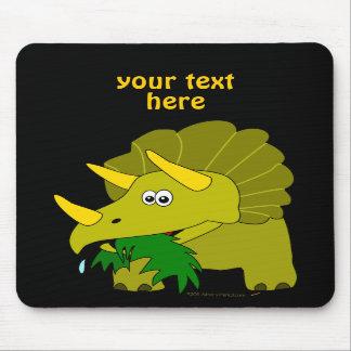 Cute Green Triceratops Cartoon Dinosaur Mouse Pads