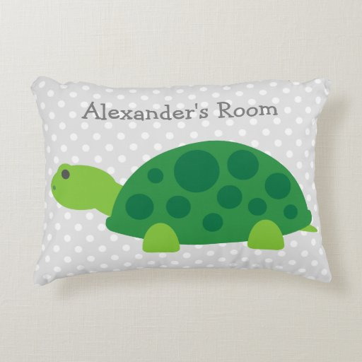Cute Pillows For Your Room : Cute green turtle accent pillow for kids room Zazzle
