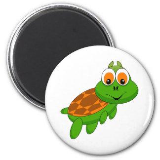 Cute green turtle animation illustration magnet