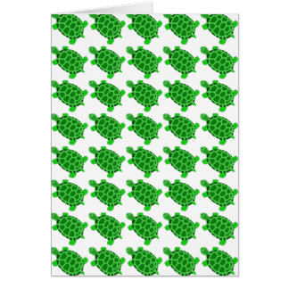 Cute Green Turtle Art Blank Greeting Card Gift